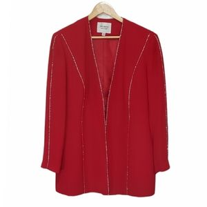Promise Beaded Open Front Jacket
